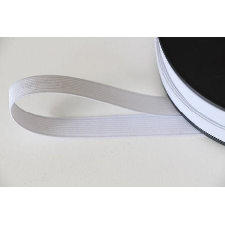 Elastique côtelé 15 mm blanc
