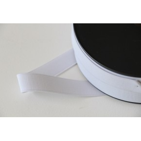 Elastique côtelé 20 MM blanc