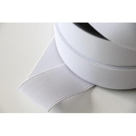 Elastique côtelé 40 mm blanc