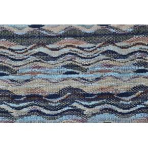 Jacquard Gobelin Wave bleu les 2M