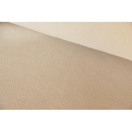Bord-côte tubulaire beige