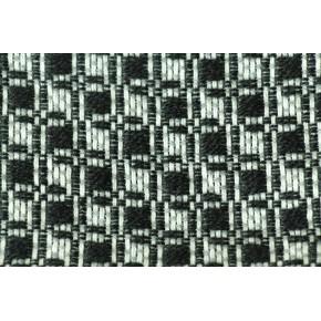 Lainage carrés noir/blanc/gris