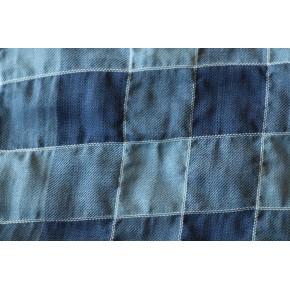 Coton à carreaux bleu LES 2M