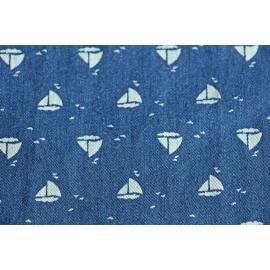 Denim bateaux bleu
