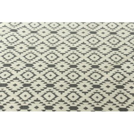 Jacquard gris et blanc Leila