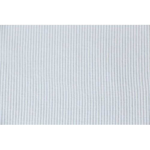 Bord-côte tubulaire blanc