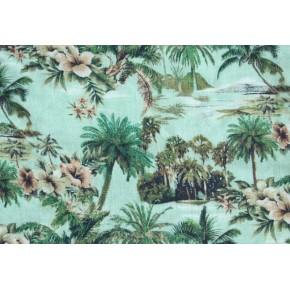 Viscose Tropic Island verte