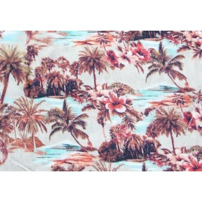 Viscose Tropic Island rose