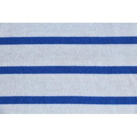Maille Marinière blanc et bleu