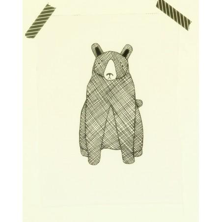 Ours noir et blanc