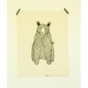 Ours noir et écru