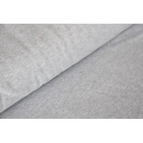 Molleton fin gris chiné