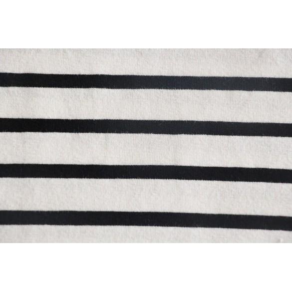 Maille marinière blanc/noir