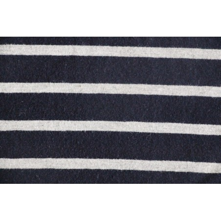Maille marinière marine/gris chiné