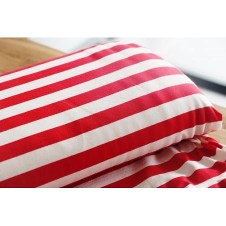 Maille marinière blanc/rouge