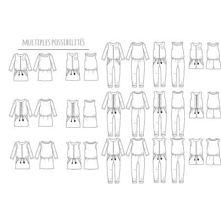 Pochette Trio MARIEKE combinaison ou robe