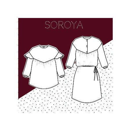 Soraya 2 en 1 blouse/top