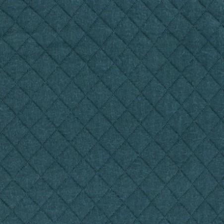 Jersey matelassé vert sapin