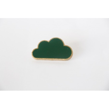 Broche nuage vert sapin