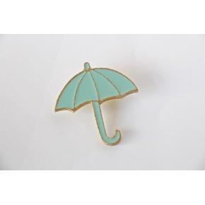 Broche parapluie vert mint