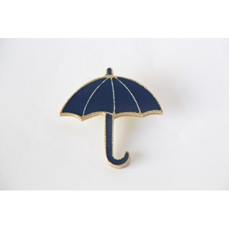 Broche parapluie marine