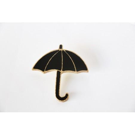 Broche parapluie noire