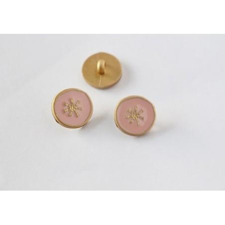 Bouton étoile rose