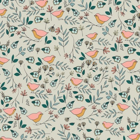 Lovebirds Celeste art gallery fabrics