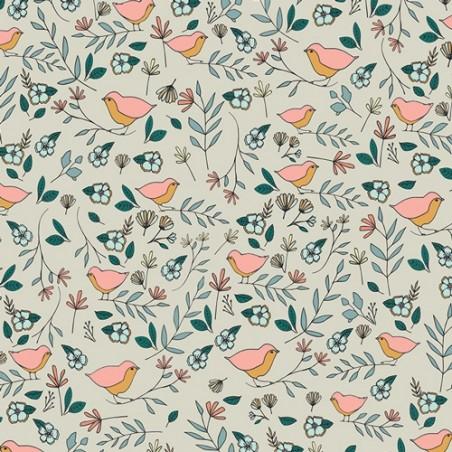 Lovebirds Celeste art gallery fabrics