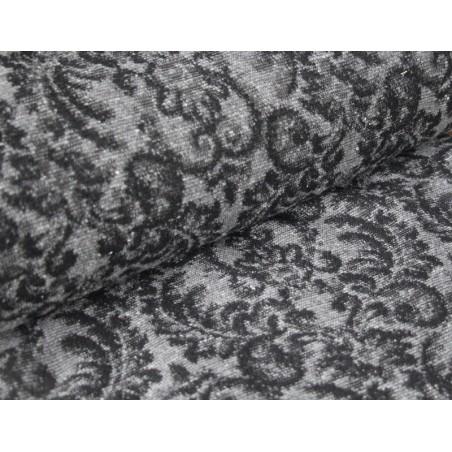 Jacquard baroque noir et gris