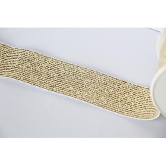 Elastique côtelé doré 30 mm