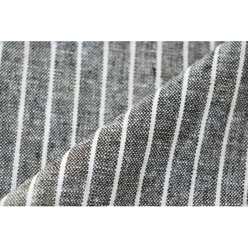 Lin et viscose rayures blanches et noires
