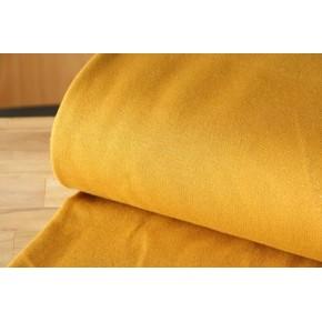 Molleton moutarde lurex doré