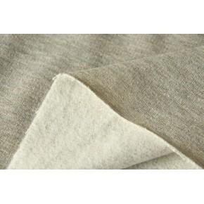 Molleton gris lurex doré