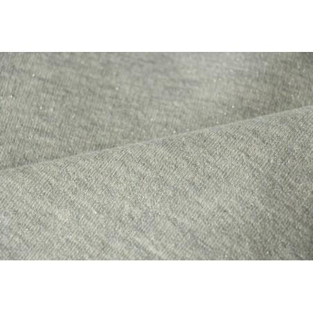 Molleton GRIS lurex argenté