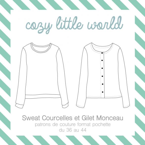 Gilet Monceau et sweat Courcelles