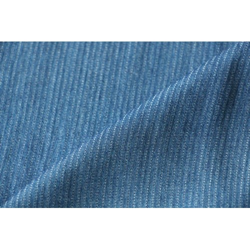 Chambray tencel bleu moyen