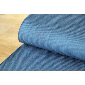 Chambray viscose bleu moyen