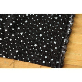 Viscose noire étoiles blanches