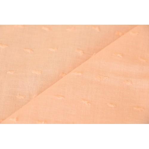 Tissu plumetis abricot