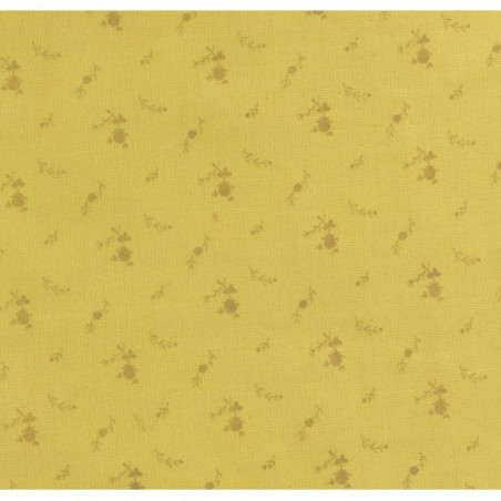 Double gaze fleurs - or et banane - France Duval Stalla