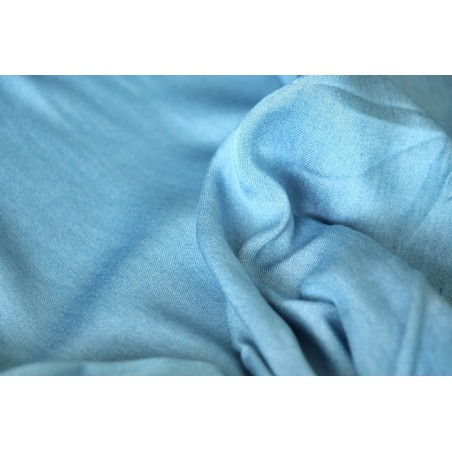Chambray tencel bleu stoned