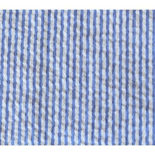Seersucker blanc et bleu