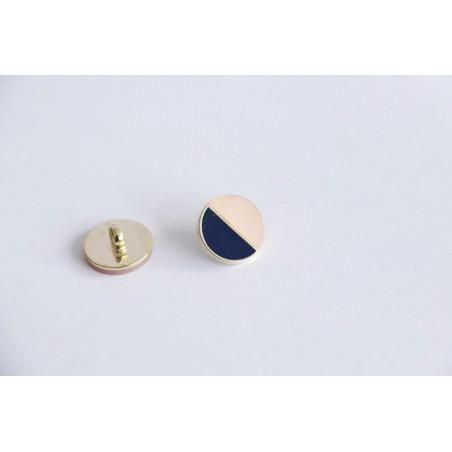 Bouton métal MARINE/ROSE nacre
