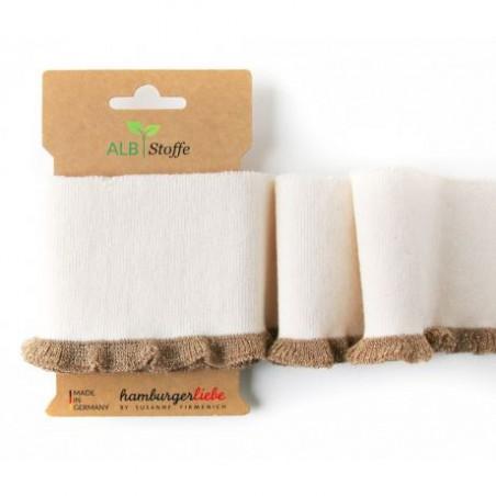 Bord cote Frill bio ivoire/lurex doré