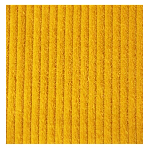 Velours grosses côtes jaune
