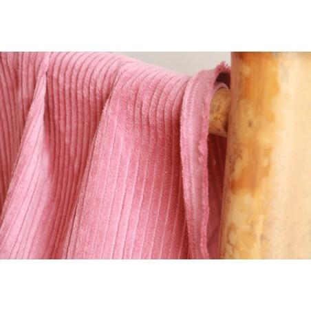 Velours grosses côtes rose