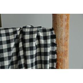 Flanelle carreaux noir et blanc
