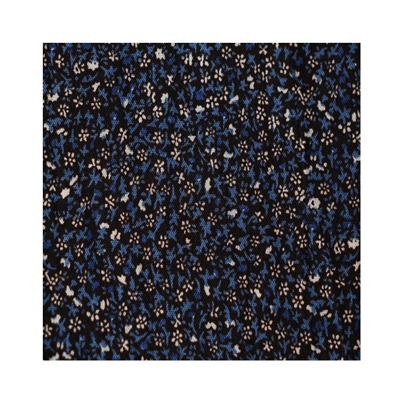 Viscose à fleurs Fiona bleu