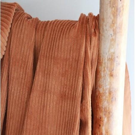 Velours grosses côtes caramel
